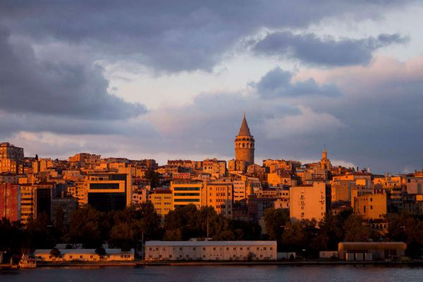 Located in the European side, Galata Tower seen from the Asian side, Istanbul, Turkey (by Sarin Simonyan)
