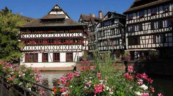 Half-timbered houses in Strasbourg (German or French?)