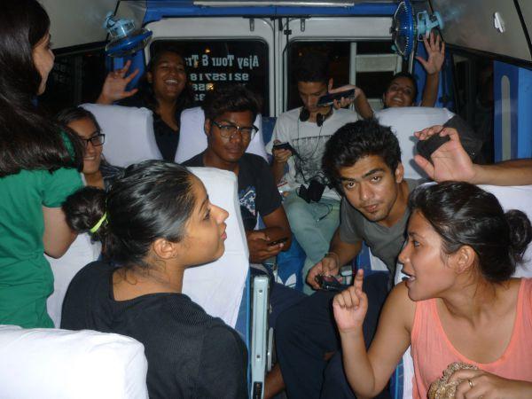 Im Bus nach Dharamshala